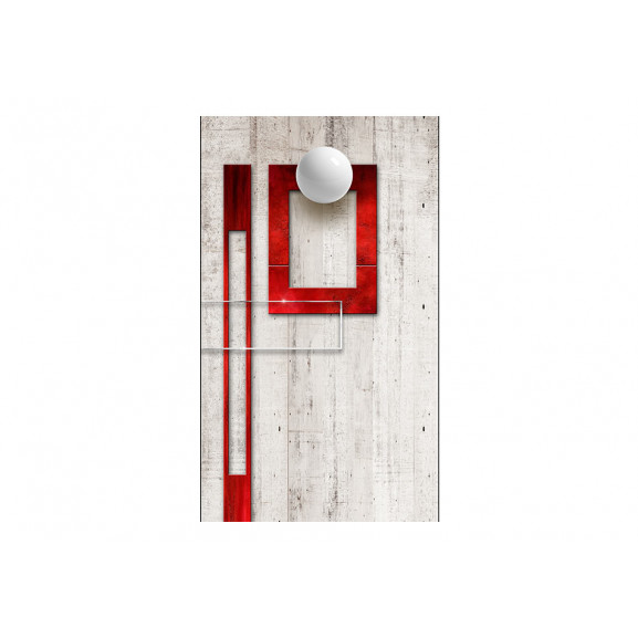 Fototapet Concrete, Red Frames And White Knobs 50 cm x 1000 cm naturlich.ro