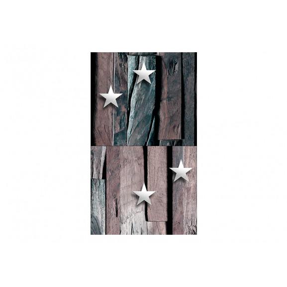 Fototapet Stars On Wood 50 cm x 1000 cm naturlich.ro