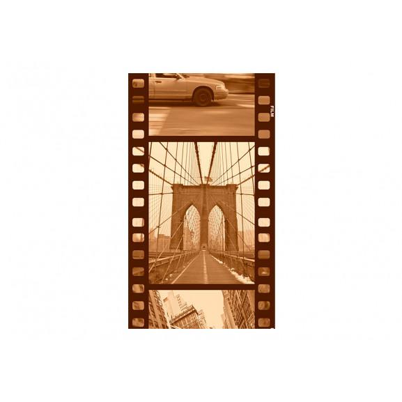 Fototapet New York Collage (Sepia) 50 cm x 1000 cm naturlich.ro