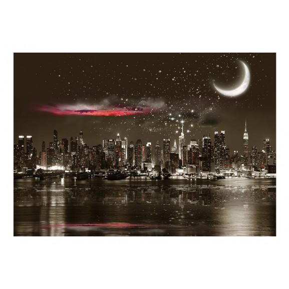 Fototapet Starry Night Over Ny 100 cm x 70 cm naturlich.ro