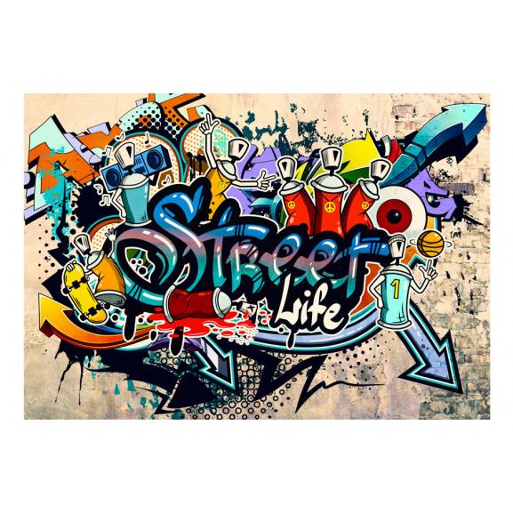 Fototapet Street Life 100 cm x 70 cm naturlich.ro