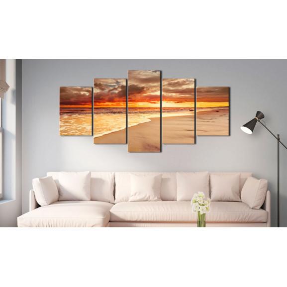 Tablou Sea: Beautiful Sunset 100 cm x 50 cm naturlich.ro