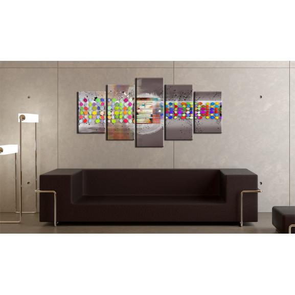 Tablou Abstract (Polka Dots) 100 cm x 50 cm naturlich.ro