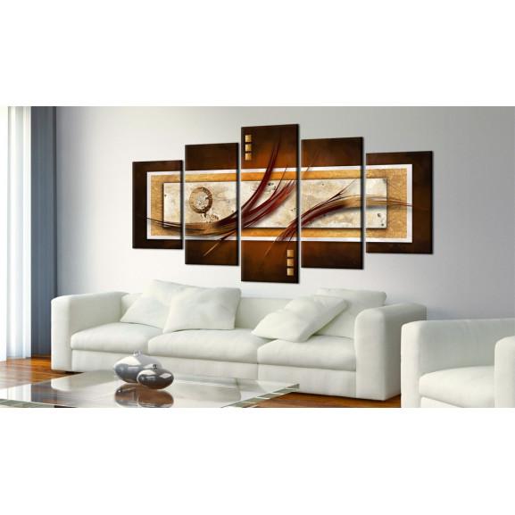 Tablou Iridescent Brown 100 cm x 50 cm naturlich.ro