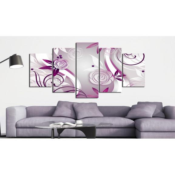 Tablou Violet Roses 100 cm x 50 cm naturlich.ro