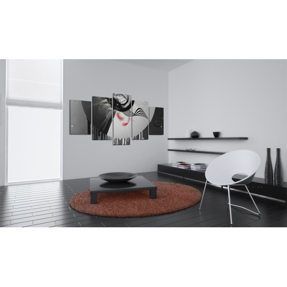 Tablou Metal With Red Accents 100 cm x 50 cm naturlich.ro