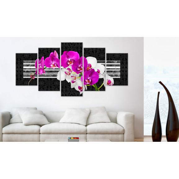Tablou Modest Orchids 100 cm x 50 cm naturlich.ro