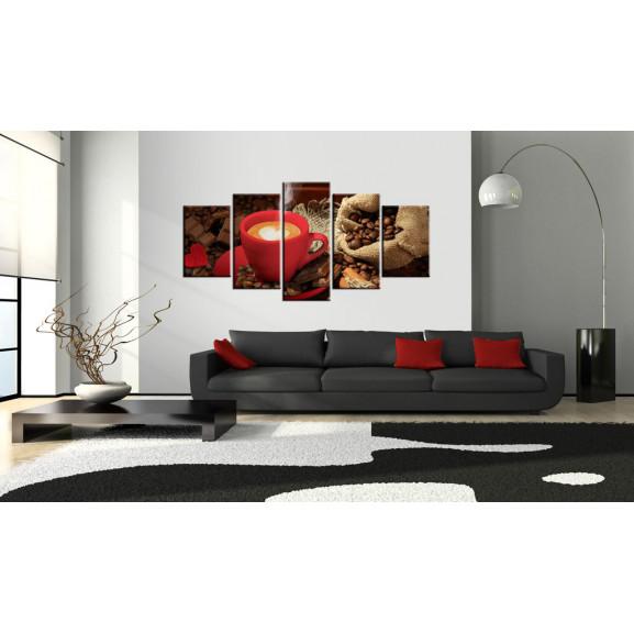 Tablou Love Espresso 100 cm x 50 cm naturlich.ro