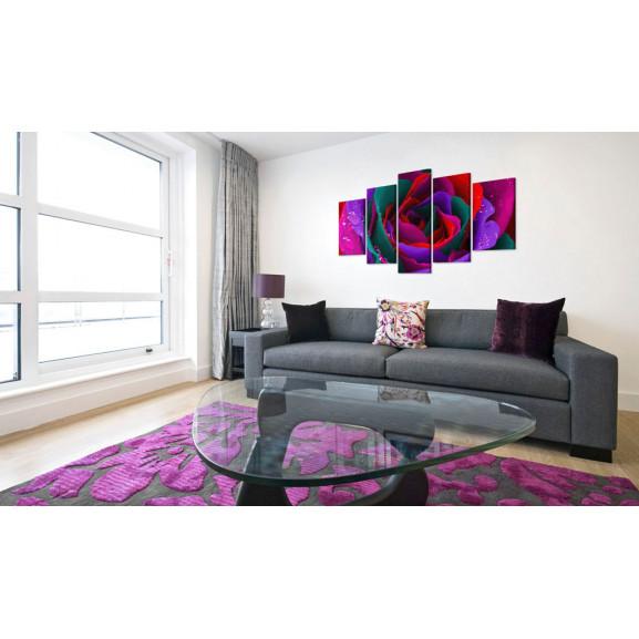Tablou Multicoloured Rose 100 cm x 50 cm naturlich.ro