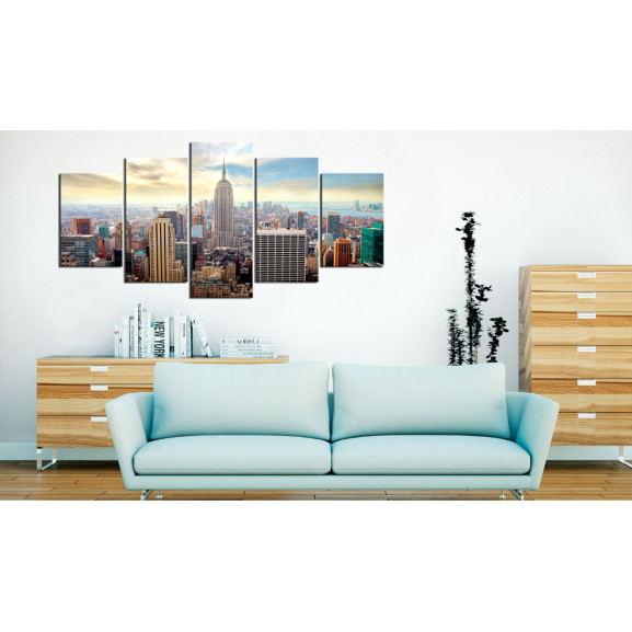 Tablou Morning In New York City 100 cm x 50 cm naturlich.ro