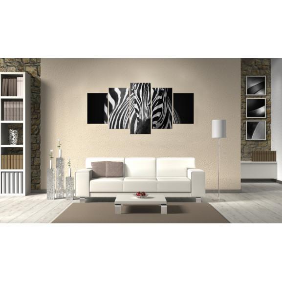Tablou Zebra Look 100 cm x 50 cm naturlich.ro