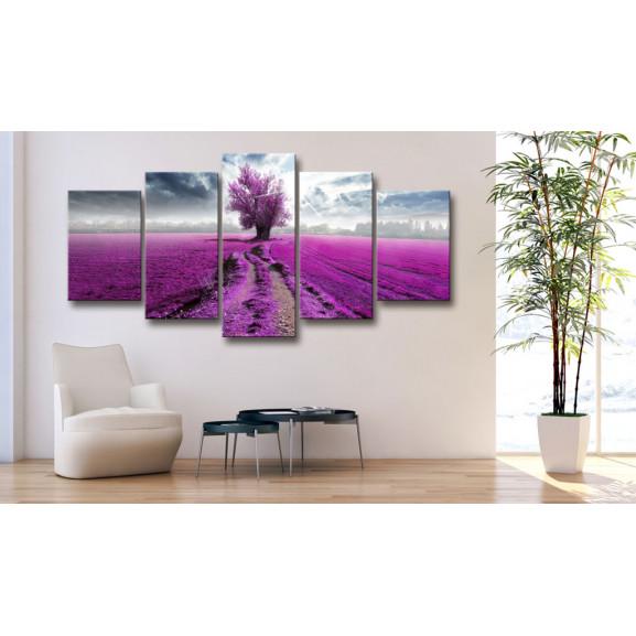 Tablou Purple Land 100 cm x 50 cm naturlich.ro