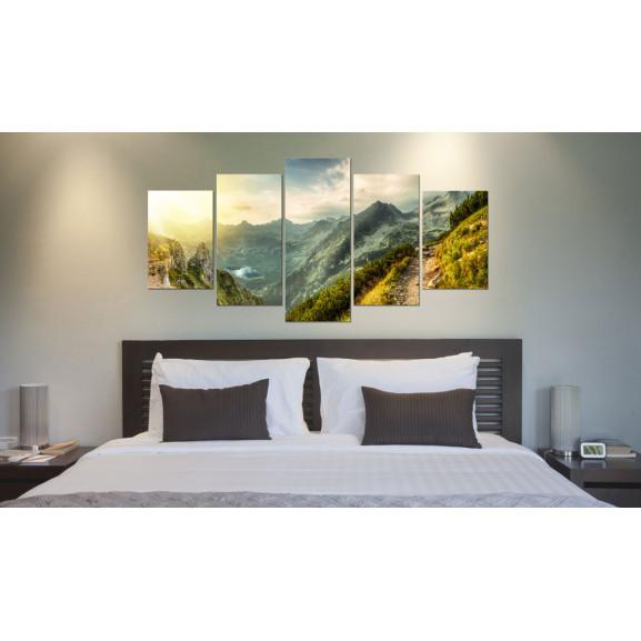 Tablou Slovak Mountain Landscape 100 cm x 50 cm naturlich.ro