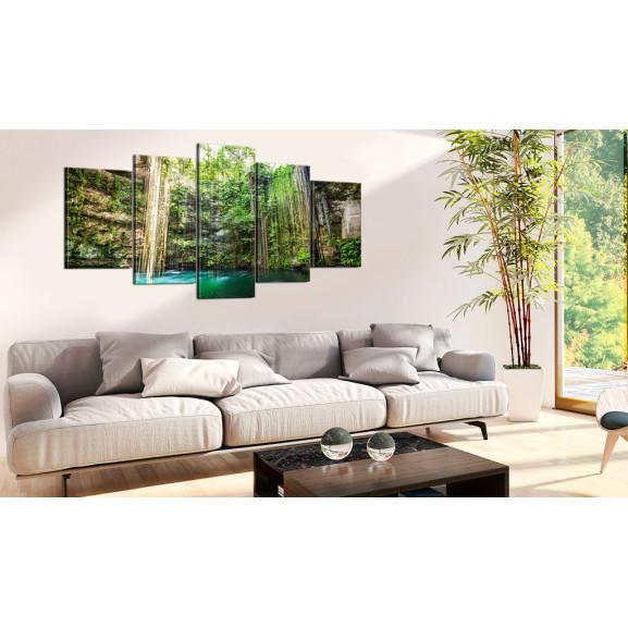 Tablou Waterfall Of Trees 100 cm x 50 cm naturlich.ro