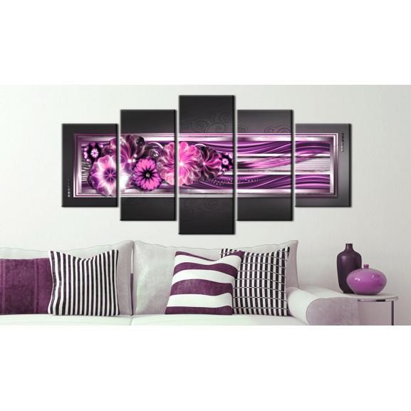 Tablou In Pink Waves 100 cm x 50 cm naturlich.ro