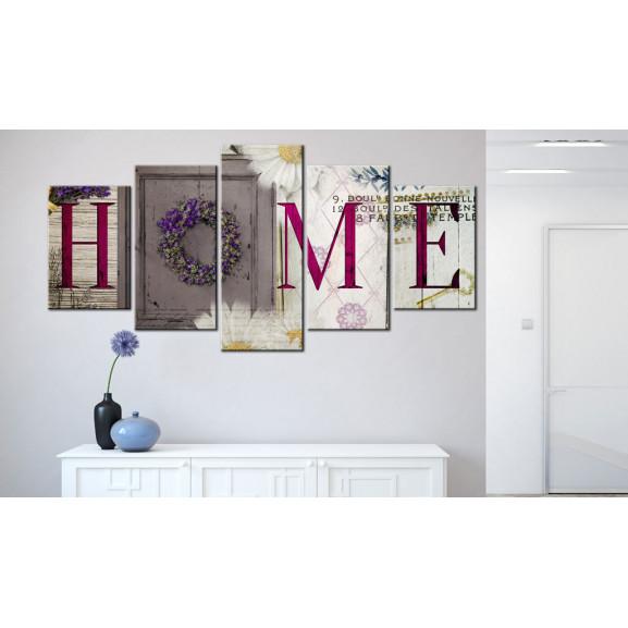Tablou Welcome Home 100 cm x 50 cm naturlich.ro
