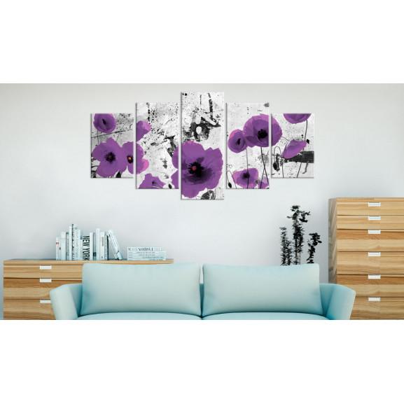 Tablou Purple Dissonance 100 cm x 50 cm naturlich.ro
