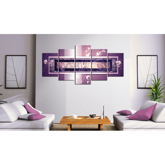 Tablou Purple Cascade 100 cm x 50 cm naturlich.ro