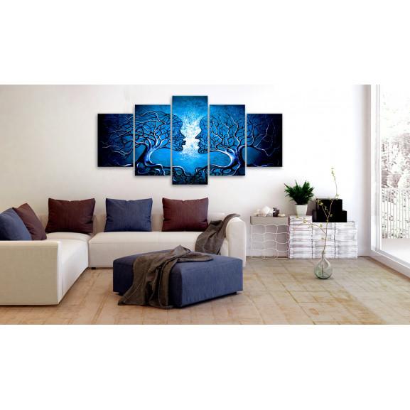 Tablou Sapphire Kiss 100 cm x 50 cm naturlich.ro