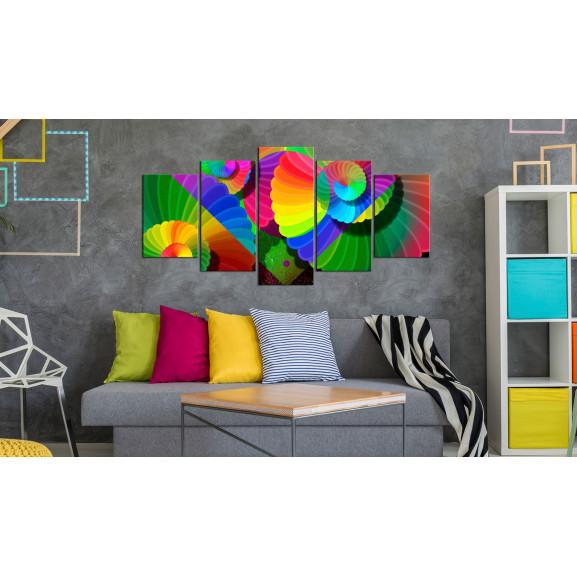 Tablou Twisted Colours 100 cm x 50 cm naturlich.ro