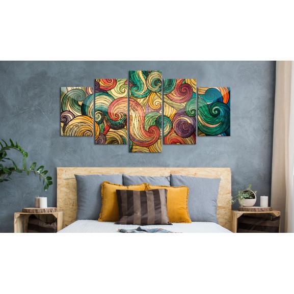 Tablou Colourful Waves 100 cm x 50 cm naturlich.ro