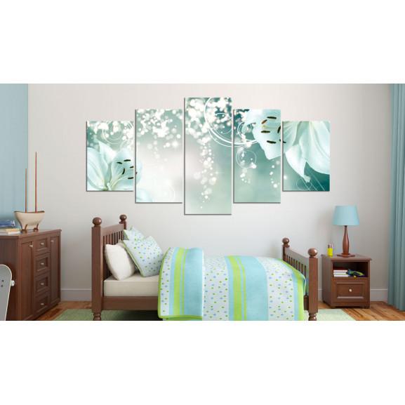 Tablou Magic Green Composition 100 cm x 50 cm naturlich.ro