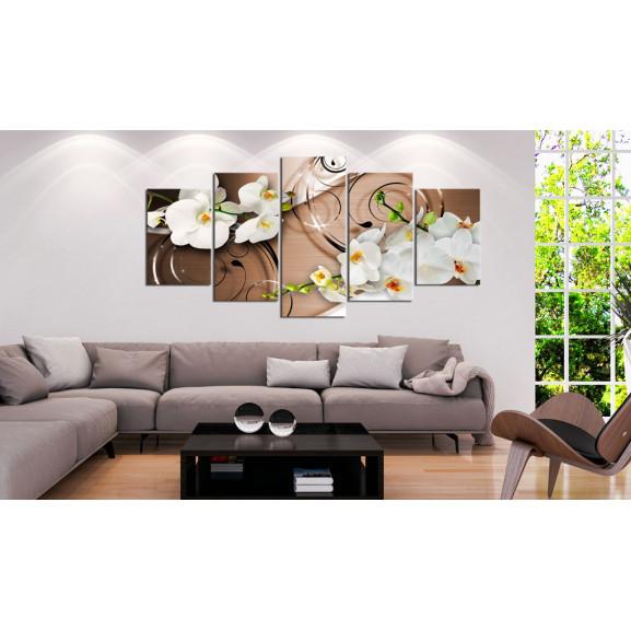 Tablou Ivory Orchids 100 cm x 50 cm naturlich.ro
