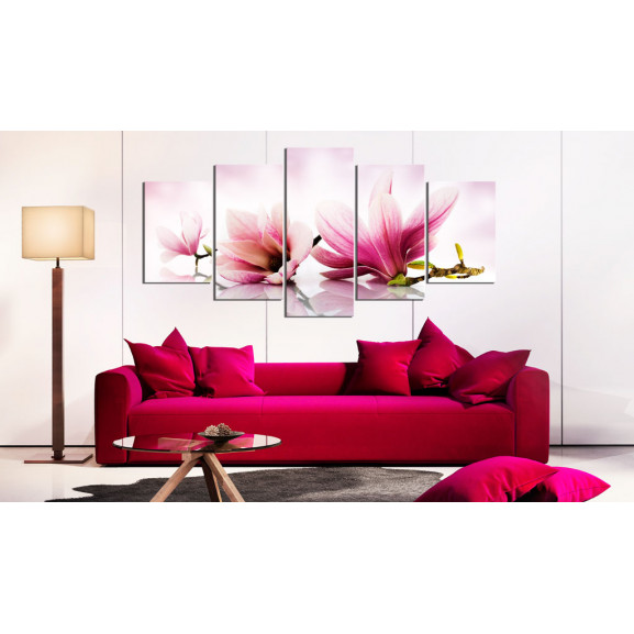 Tablou Magnolias: Pink Flowers 100 cm x 50 cm naturlich.ro