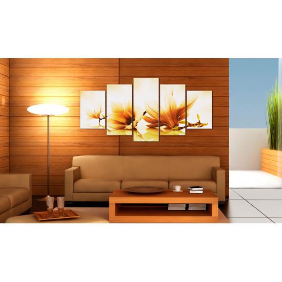 Tablou Amber Magnolias 100 cm x 50 cm naturlich.ro
