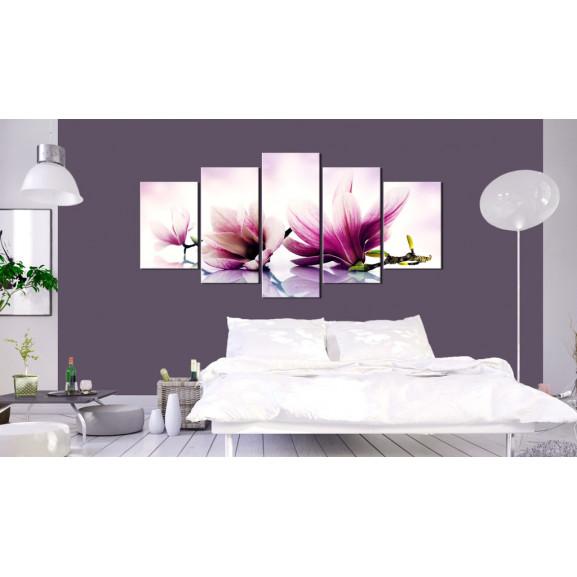 Tablou Pink Flowers: Magnolias 100 cm x 50 cm naturlich.ro