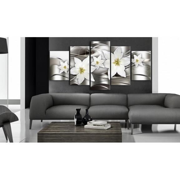 Tablou Mysterious Lilies 100 cm x 50 cm naturlich.ro