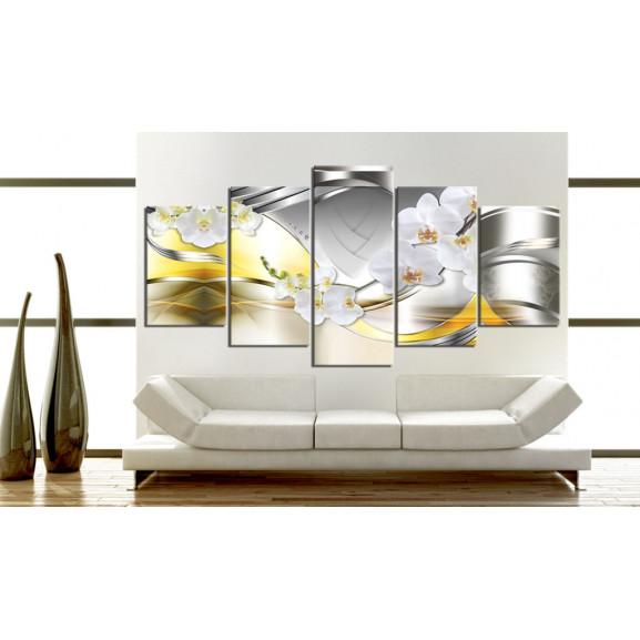 Tablou Flowers Of Future 100 cm x 50 cm naturlich.ro