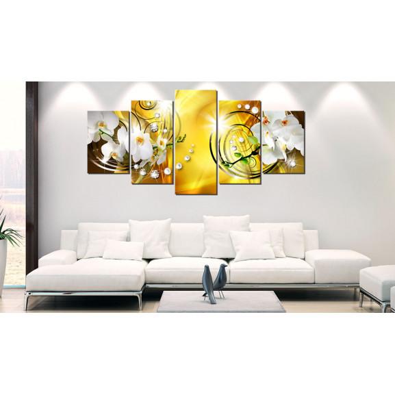 Tablou Yellow Admiration 100 cm x 50 cm naturlich.ro