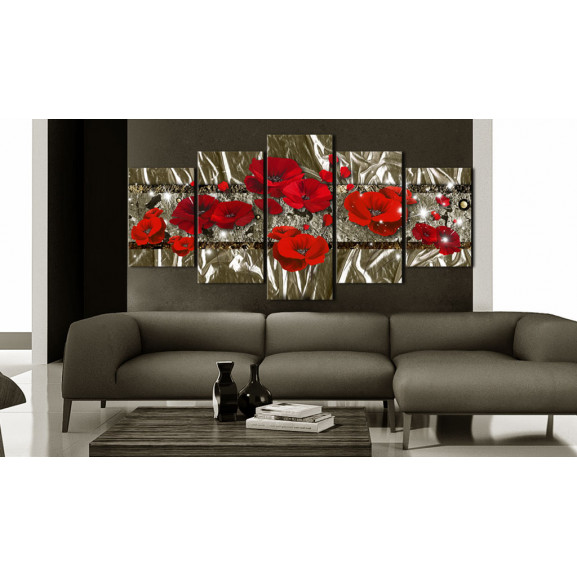 Tablou Golden Poppies 100 cm x 50 cm naturlich.ro