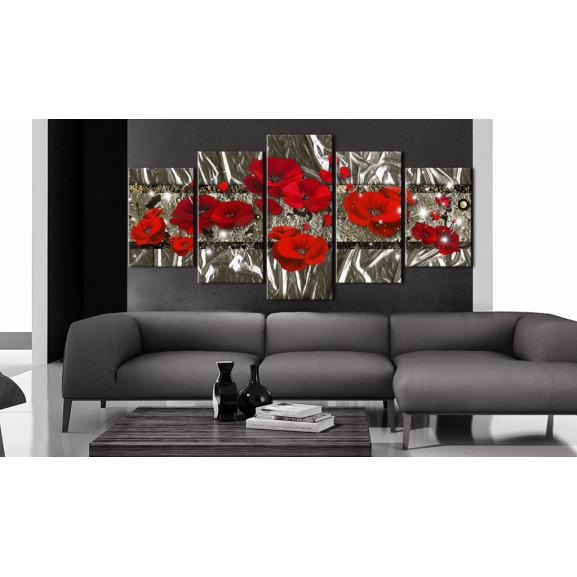 Tablou Silver Poppies 100 cm x 50 cm naturlich.ro
