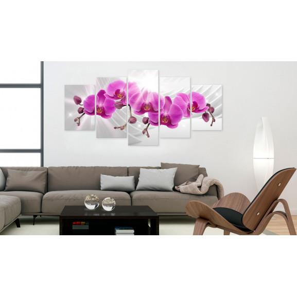 Tablou Abstract Garden: Pink Orchids 100 cm x 50 cm naturlich.ro