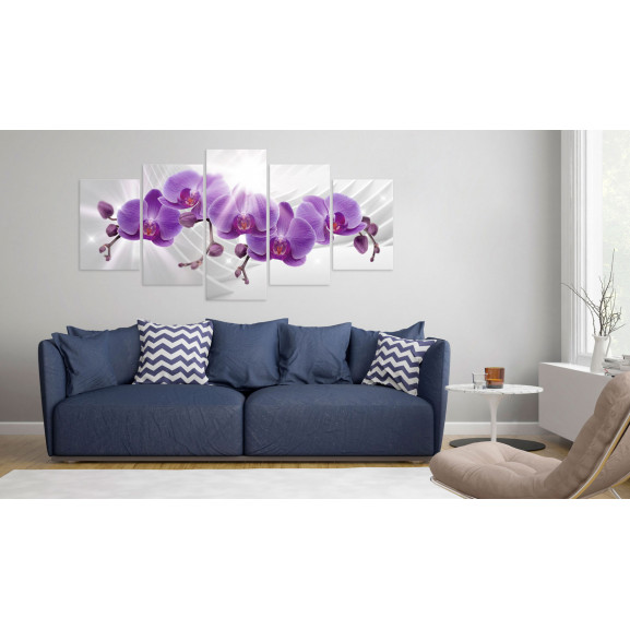 Tablou Abstract Garden: Purple Orchis 100 cm x 50 cm naturlich.ro