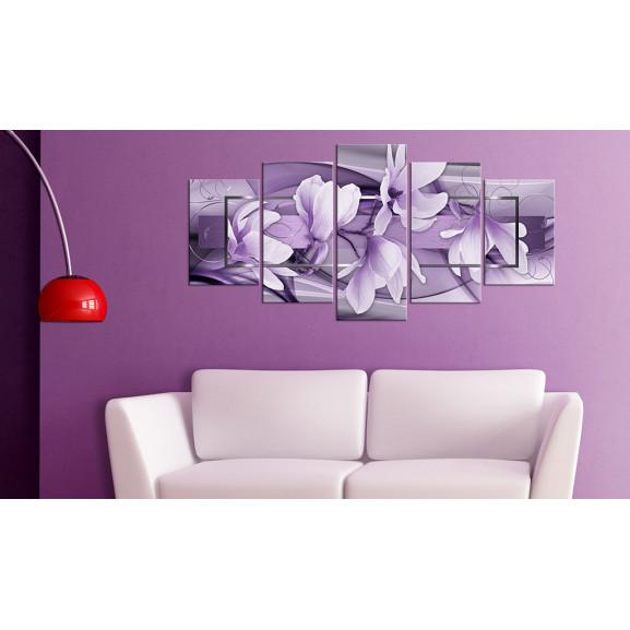 Tablou Purple Wave 100 cm x 50 cm naturlich.ro