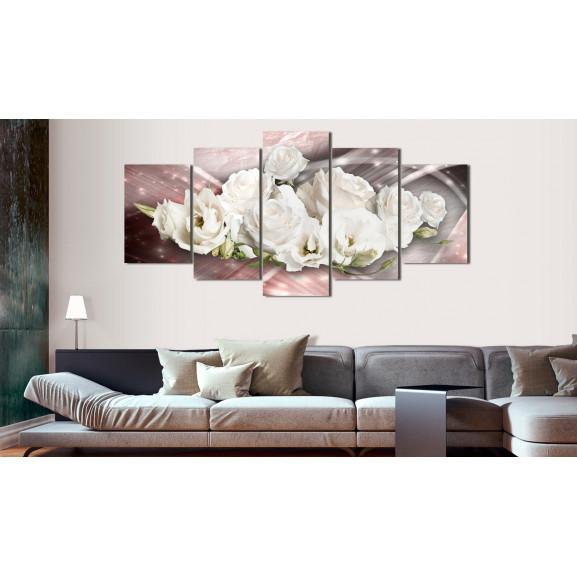Tablou Romantic Bouquet 100 cm x 50 cm naturlich.ro