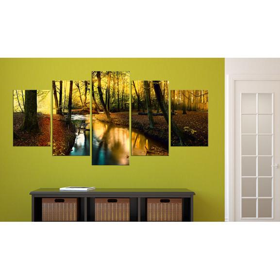 Tablou Autumn Silence: Forest 100 cm x 50 cm naturlich.ro