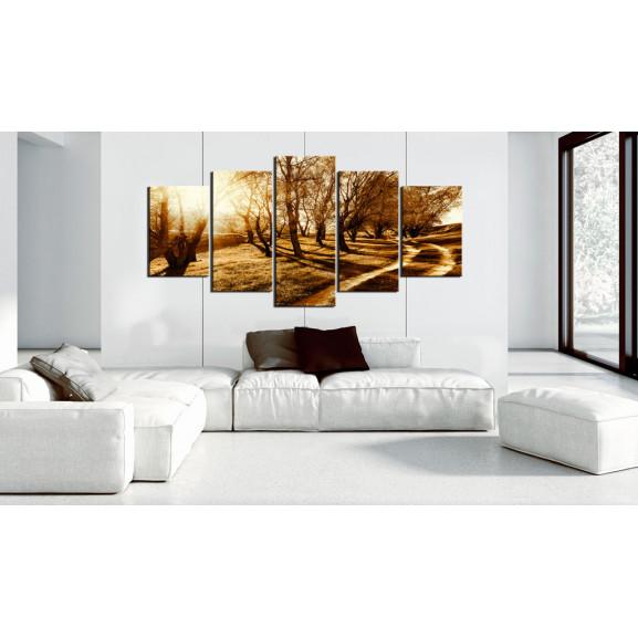 Tablou Amber Orchard 100 cm x 50 cm naturlich.ro