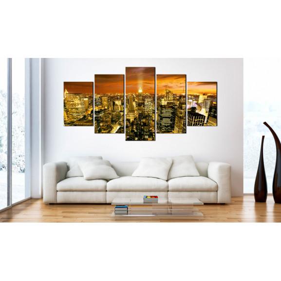 Tablou New York: Amber 100 cm x 50 cm naturlich.ro