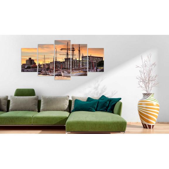 Tablou Port Of Hamburg 100 cm x 50 cm naturlich.ro