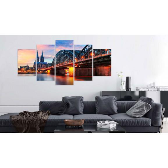 Tablou Evening In Cologne 100 cm x 50 cm naturlich.ro