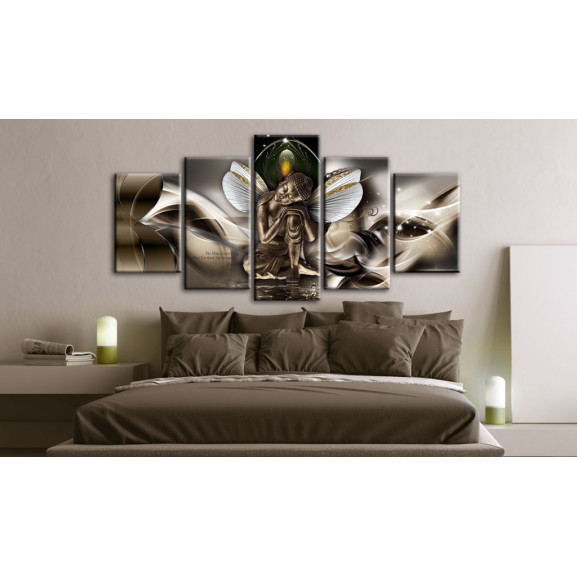 Tablou Winged Buddha 100 cm x 50 cm naturlich.ro