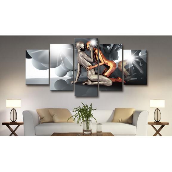 Tablou Lovers Of The Future 100 cm x 50 cm naturlich.ro