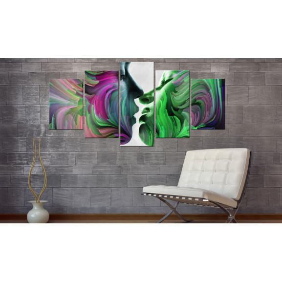 Tablou Colours Of Love 100 cm x 50 cm naturlich.ro