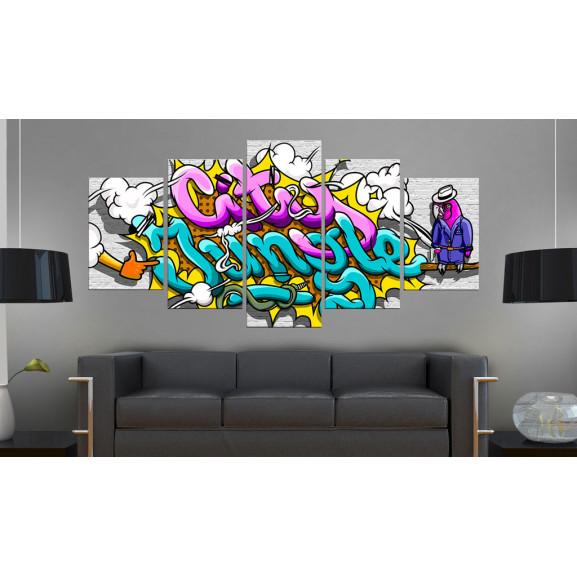 Tablou Graffiti: City Jungle 100 cm x 50 cm naturlich.ro
