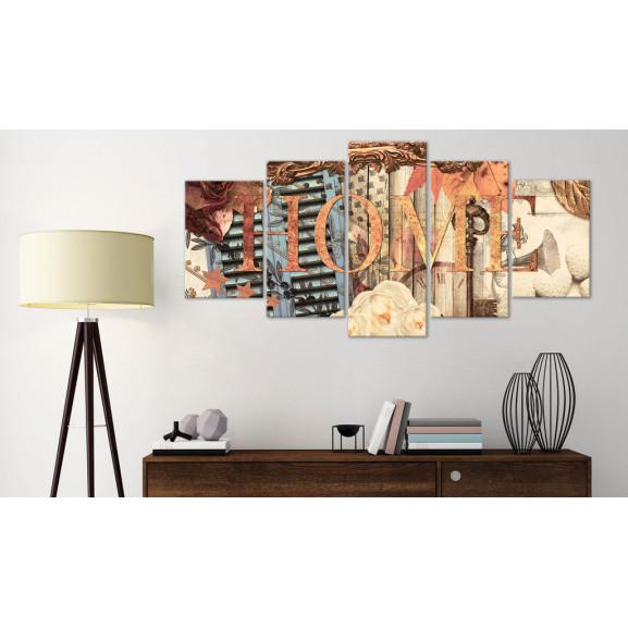 Tablou Home (Retro) 100 cm x 50 cm naturlich.ro
