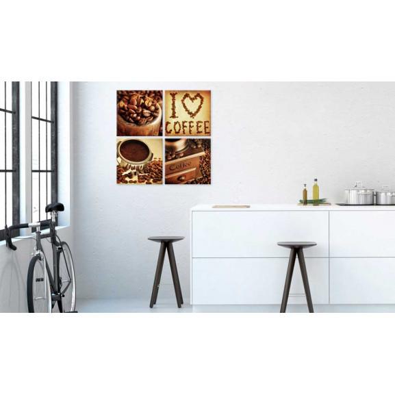 Tablou Coffee Pleasant Moments 40 cm x 40 cm naturlich.ro